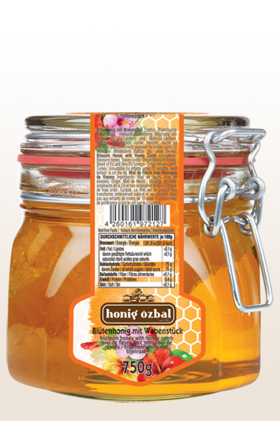 Blossom Honey with Comb 750g